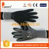 Ddsafety 2017 Grey Nylon with Black Latex Working Gloves