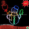LED 2D Snowman Motif Rope Light with Matal Frame Christmas Lights for Indoor and Outdoor Use