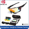 Fashion Black Frame Mirrored Sports Sunglasses Ppolarized