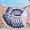 Mandala Ocean Sublimation Watermelon Shaped 100% Cotton Round Beach Towel