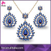 Hot Fashion 18k Gold Filled Jewelry African Bridal Jewelry Set for Wedding