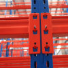 Blue Frame and Orange Beam Durable Industrial Storage Shelf