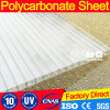 4, 6, 8, 10mm Twin Wall Hollow Polycarbonate Sheet Material Canopy Sheet