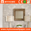 PVC Vinyl Deep Embossed Wallpaper with Flowers