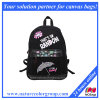 Cute Black Canvas Backpack for Girls
