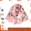 Long Multicolor Printed Lady Fashion Silk Scarf