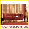 Classical Living Room Furniture/Wooden Red Couch Sofa
