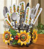 Stainless Steel Cutlery Set with Sunflower Design (LS-8004)
