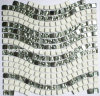 White Stone and Silver Glass Mosaic (HGM280)