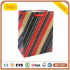 Red and Black Stripe Cosmetics Gem Clothing Coated Paper Shopping Bag