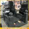 Dark Grey Granite Chinese Memorials for Cemeteries