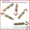 Hook Bolt Zinc Yellow Passivated, Hook Bolt Anchor, Open Hook Bolt