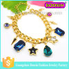 Custom Shamballa Jewelry Gemstone Charm Gold Chain Bracelet for Women