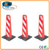 Traffic Plastic Delineator Panel with Heavy Rubber Base