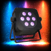 Wireless Uplight 7PCS 15W Rgabw Wedding Disco Flat LED PAR