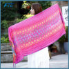 Women Cotton Linen Scarf Embroidery Shawls Wrap Thin Soft