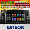 Witson Android 5.1 Car DVD GPS for Toyota Corolla 2004-2007 with Chipset 1080P 16g ROM WiFi 3G Internet DVR Support (A5512)