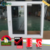 UPVC Vinyl External Double Panel Hurricane Impact Sliding Windows