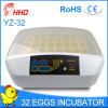 Hhd Clean Chicken Egg Incubator Ce Approved for Sale (YZ-32)