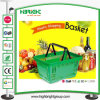 Supermarket Used Double Handle Plastic Shopping Basket
