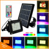 20LED Colorful Solar Flood Light with Remote Control for Landscape