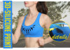 Wholesale Ladies Custom Sexy Sports Bra with Silicone Print