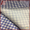 Elastic Check Pattern Silk Cotton Blended Satin Fabric