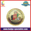 Gold Challenge Coins/Metal Coin with Double Milled Edge (HS-MC047)