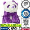 Soft Stuffed Animal Purple Panda Girl with Bow Plush Toy