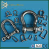 Stainless Steel Bow Shackle with Safety Pin and Screw Nut
