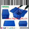 Mesh Plastic Foldable Crate Box with Lids
