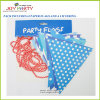 Blue Paper Flags 12 Pieces Banner Garlands