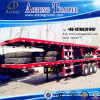 3 Axle 60t Container Dedicated Small Gooseneck Stepwise Flat Lowbed Semi Trailer (LAT9370TJZG)