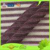 Striped Jacquard Nylon Lycra Knitting Net Lingerie Fabric