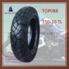 Nylon 6pr Tubeless, Long Life Motorcycle Tire with Size: 350-10tl