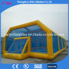 Inflatable Water Football Arena Inflatable Soap Soccer Field with Net Roof
