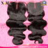 7A Grade Three Part Brazilian Remy Hair Bleached Knot Lace Closure with Baby Hair