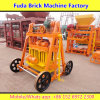 Wheel Movable Concrete Brick Making Machine Without Pallet