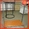 Metal Clothes Display Rack with Wooden Base