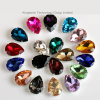 Fashion 10X14mm Waterdrop K9 Sew on Stones Clear Crystal Rhinestones with Gold Claw Setting