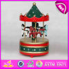 2015 Mini Wooden Toy, Carousel Music Box, Arousel Horse Ride Music Box, Decorative Christmas Gift W07b009b