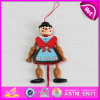 2016 New Style Wooden String Puppet, High Quality Baby Wooden Pull Toy Puppet, Popular Kid Wooden Puppet W02A054