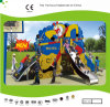 Kaiqi Medium Sized Kung Fu Monkey Themed Children′s Playground with Slide and Climbing Wall (KQ21038A)