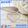Fashion Custom Silver Lock Pendant Necklace