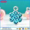 Custom New Design Flower Shape Pendant Gemstone Blue Pendant