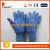 Ddsafety 2017 Blue Cotton Work Gloves with Mini Dots on Palm Finger