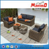 4PCS Round Wicker/Rattan Sofa Set