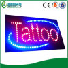 High Resolution Acrylic Letter Indoor Animated Tattoo LED Sign