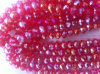 Red Ab Fancy Stones Beads with Hole