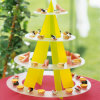 Hot Selling Round Acrylic 4-Tier Cupcake Cake Stand for Birthday Wedding Party Cake Shop